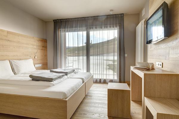 Camera in legno con vista panoramica comfort