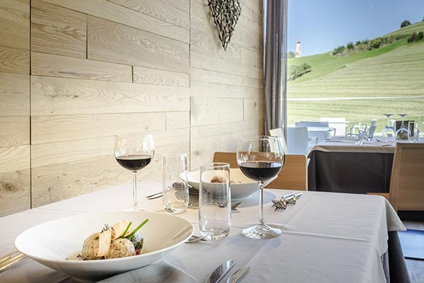 vista panoramica Alpe di Siusi ristorante hotel villamadonna
