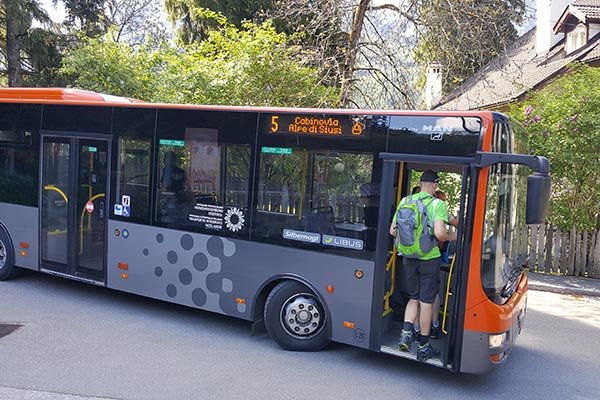Fermata Bus Alpe di Siusi Hotel Villamadonna