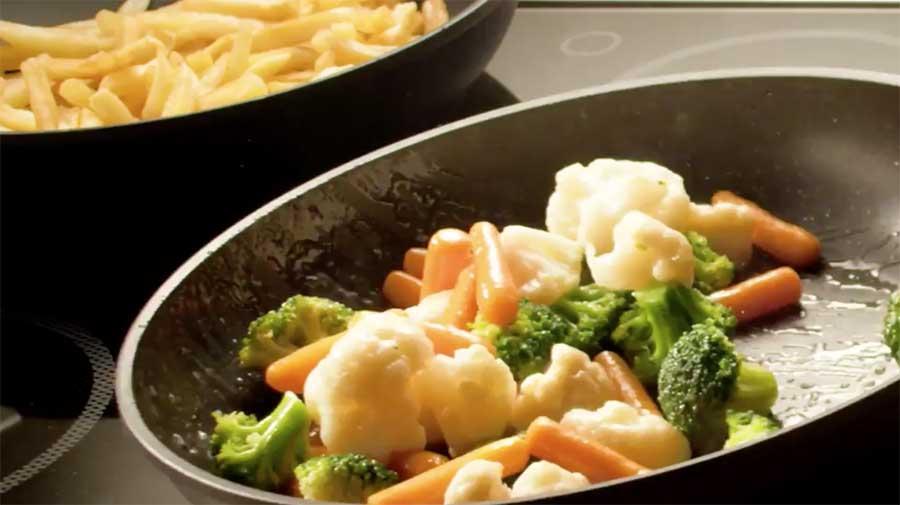 Video del ristorante preparazione verdure