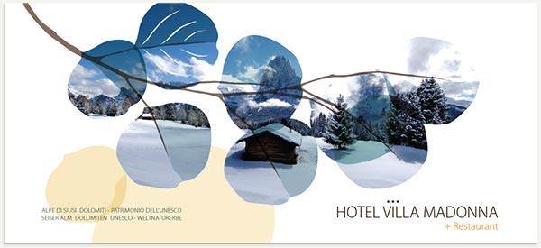 cartolina Alpe di Siusi patrimonio naturale dell'umanità unesco