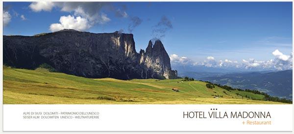 cartolina alpe di Siusi estate hotel villamadonna