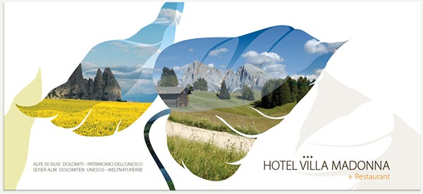cartolina hotel villamadonna alpe di Siusi